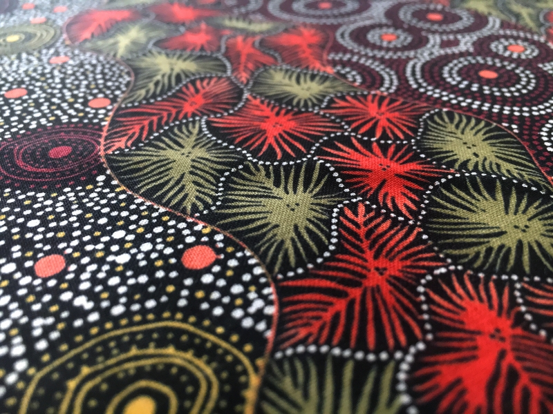 Australian Cotton Print With Aboriginal Motif2