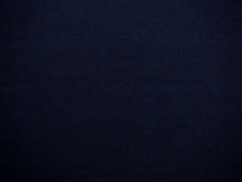 Bamboo Cotton Lycra Rib Knit in Navy0