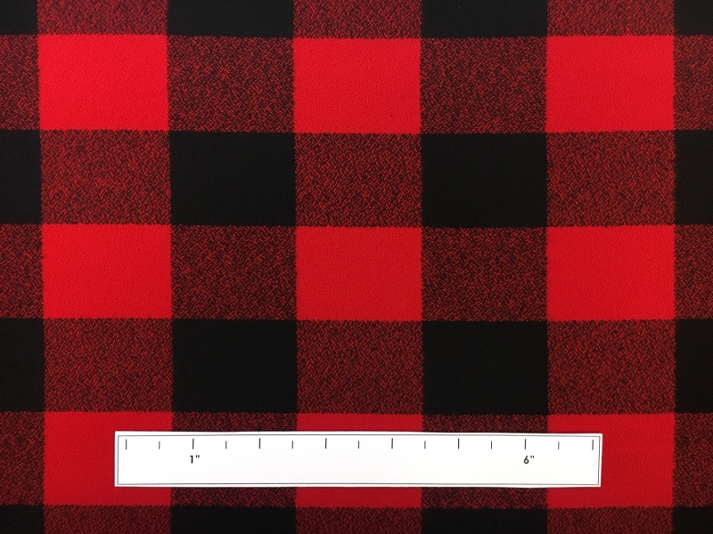 Cotton Mammoth Flannel Check in Red and Black3