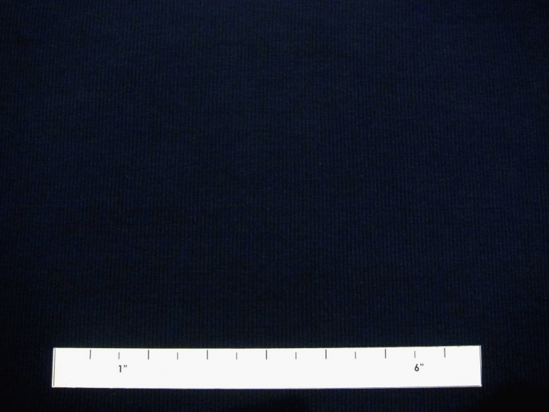 Bamboo Cotton Lycra Rib Knit in Navy1