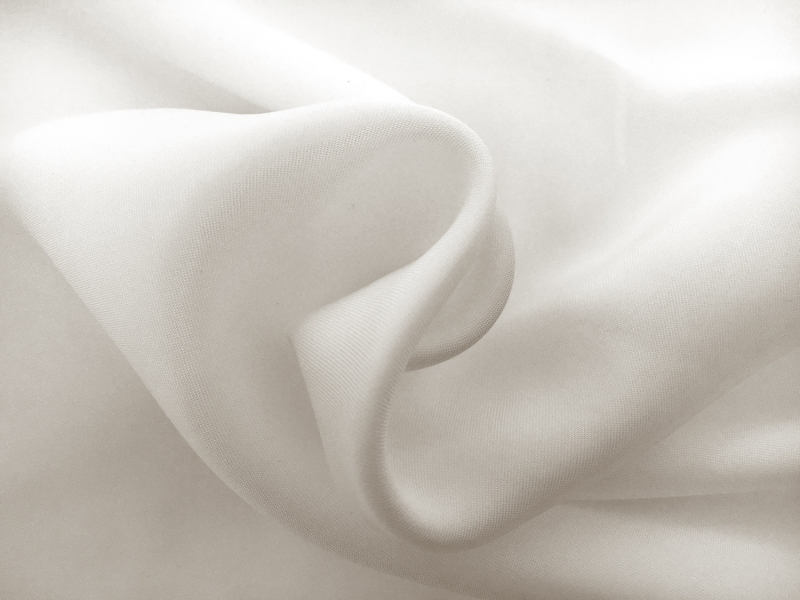 Cupro and Viscose Blend Soft Twill in Ivory1