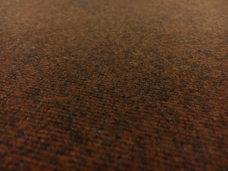 Italian Doubleface Virgin Wool Coating In Burnt Umber And