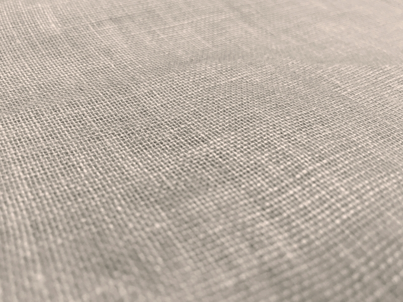 Metallic Coated Linen Mesh in Silver Glam2