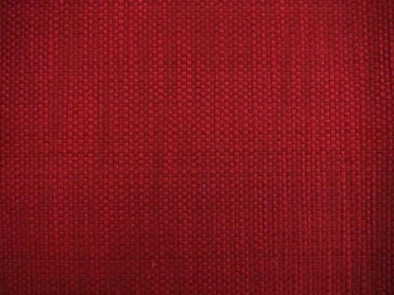Cotton Blend Basketweave Upholstery in Rose Red0