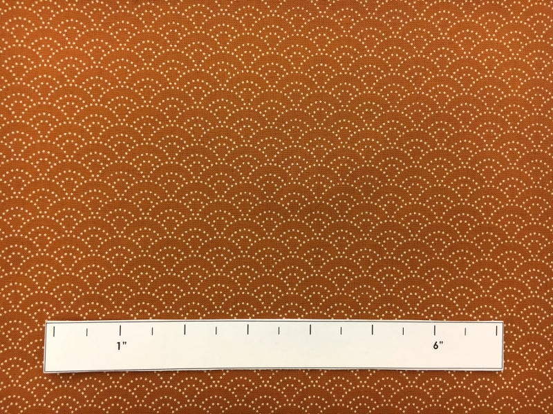 Japanese Cotton Print with Stippling Pattern in Burnt Orange1