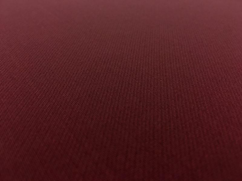 Italian Wool Satin Faille in Burgundy3