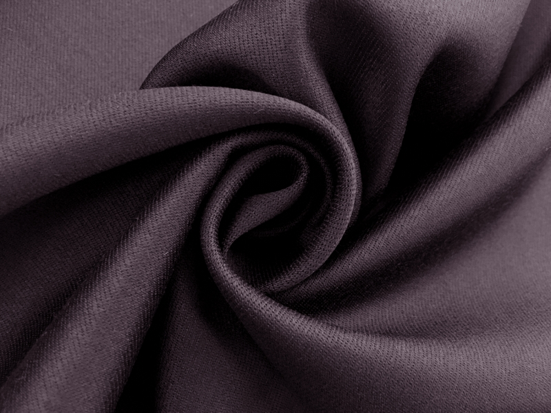 Italian Wool Satin Faille in Dark Purple1