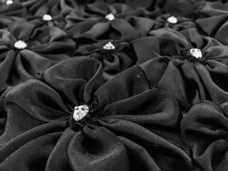 REDUCED Beaded Satin Rosettes on Tulle2
