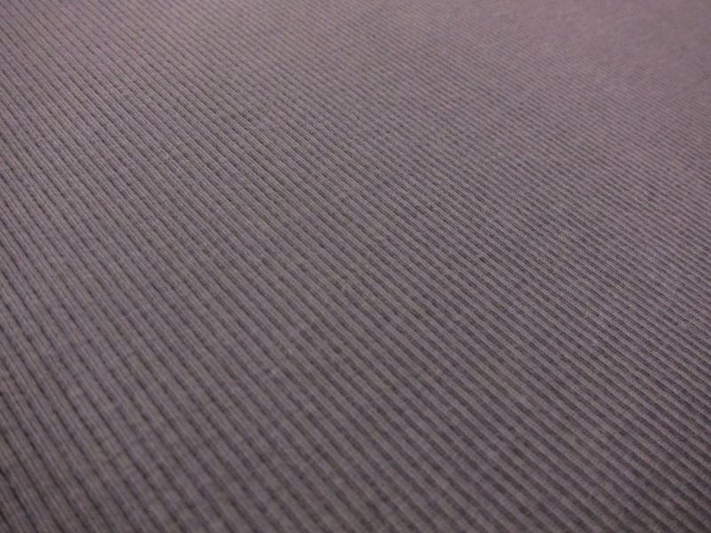 Bamboo Cotton Lycra Rib Knit in Pewter Grey2