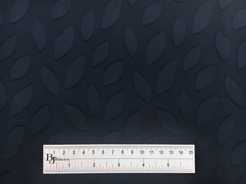 Italian Cotton Voile Fil Coupé with Leaves Motif3