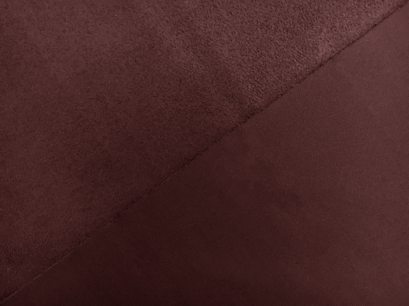 Stretch Suede with Scuba Backing in Burgundy1