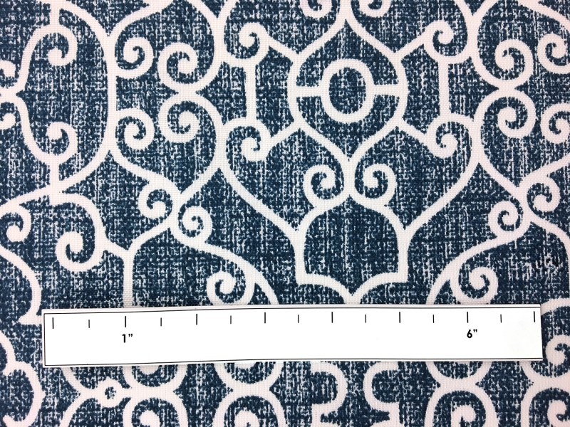 Outdoor Spun Polyester Canvas with Ornamental Print 1