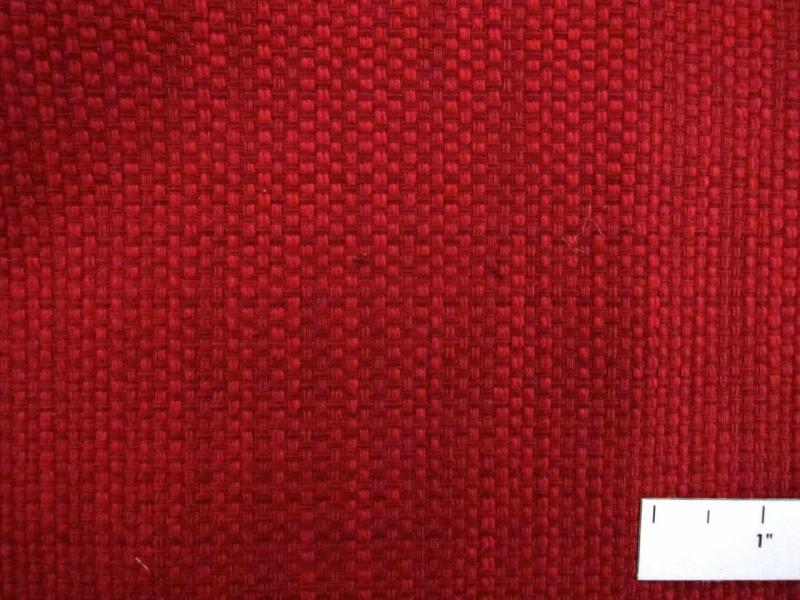 Cotton Blend Basketweave Upholstery in Rose Red1