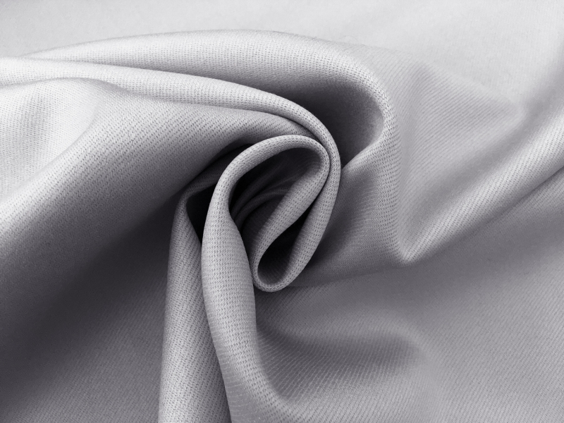 Italian Wool Satin Faille in Silver Gray1