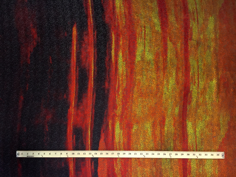 Designer Burnout Velvet Abstract Degrade Panel3