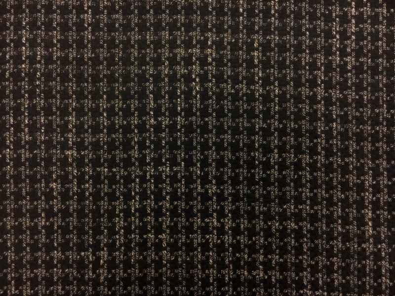 Italian Wool Bamboo Blend Novelty Suiting in Espresso 0