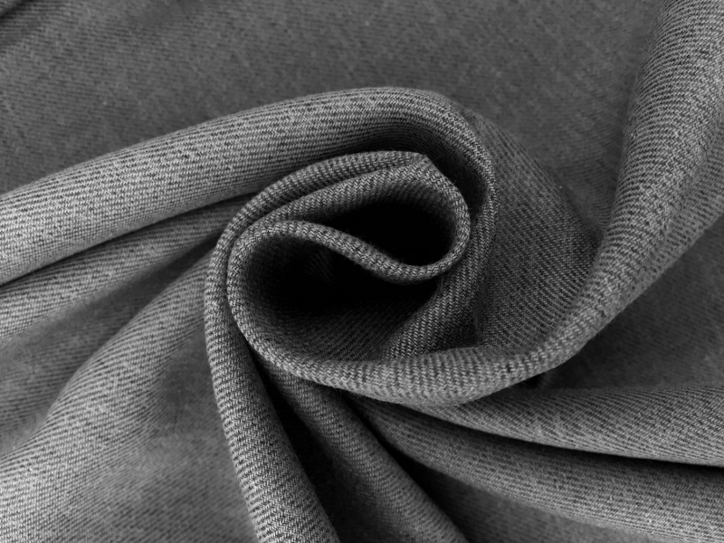 Cotton Flannel Twill in Grey1