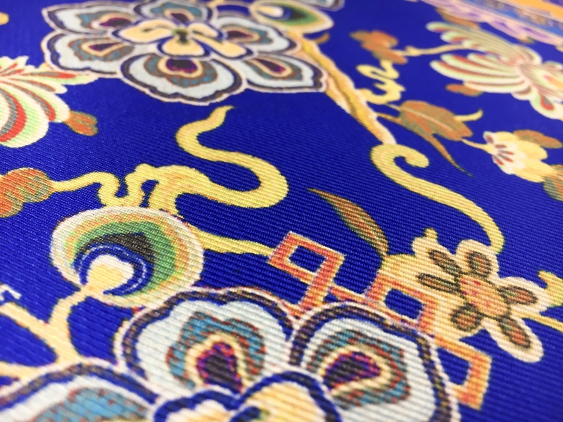 Printed Silk Twill with Large Mixed Paisley and Floral Patterns2