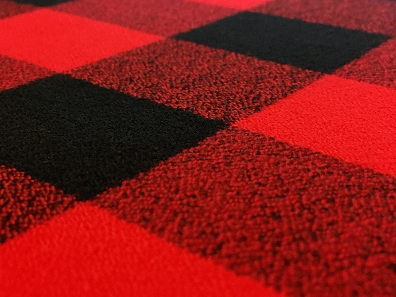 Cotton Mammoth Flannel Check in Red and Black2