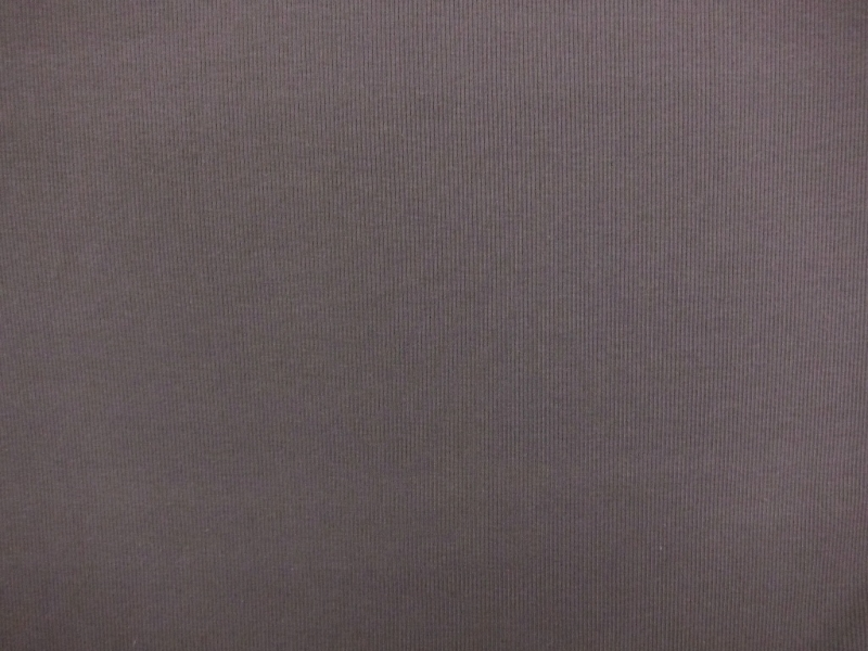 Bamboo Cotton Lycra Rib Knit in Pewter Grey0