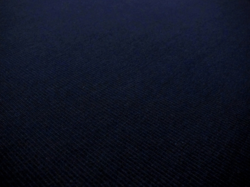 Bamboo Cotton Lycra Rib Knit in Navy2