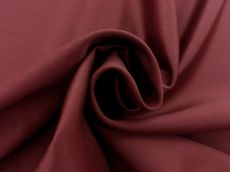 Italian Wool Satin Faille in Burgundy1