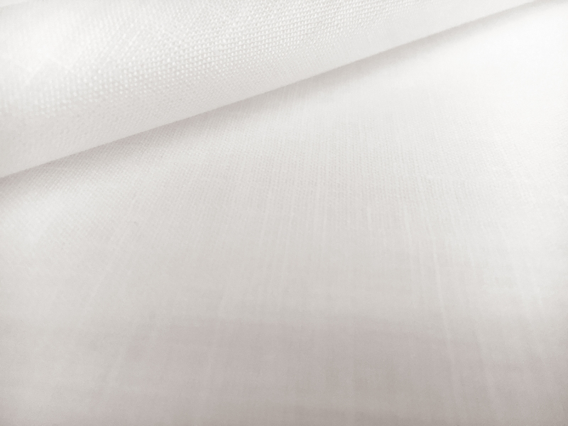 Irish Handkerchief Linen in White0