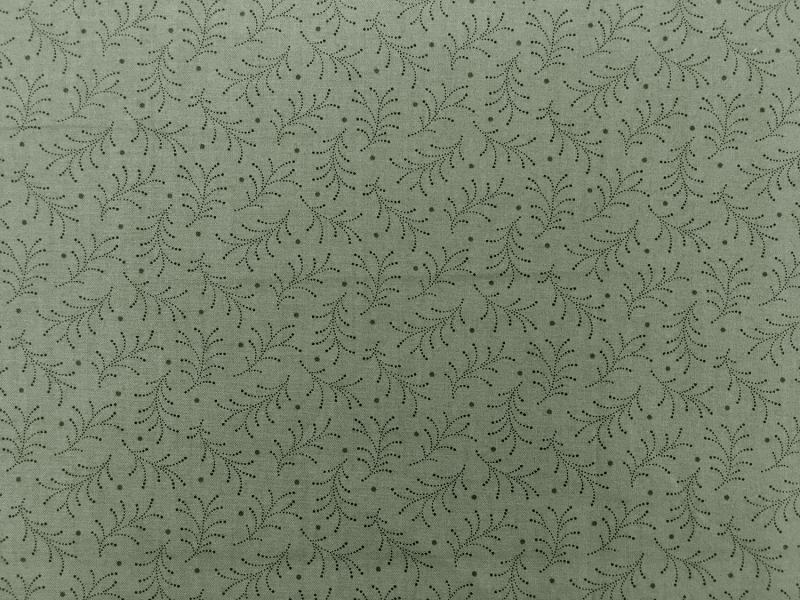 Cotton Print With Stippling Leaves Pattern0
