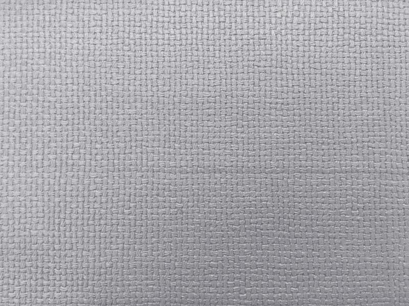 Plastex Fabrics Faux Leather Basketweave Silver