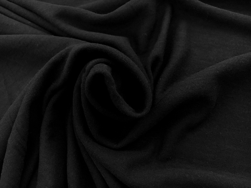 Modal Wool Cashmere Blend Jersey in Black1