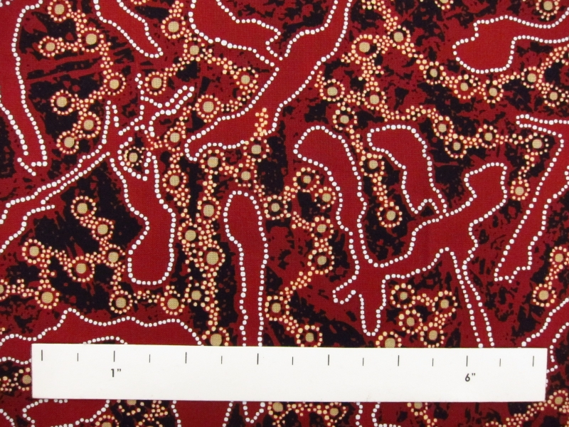 Australian Cotton Print With Aboriginal Motif1