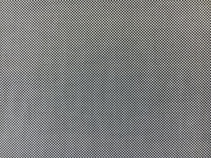 Italian Cotton Chevron Dobby Shirting in Black   B&J Fabrics