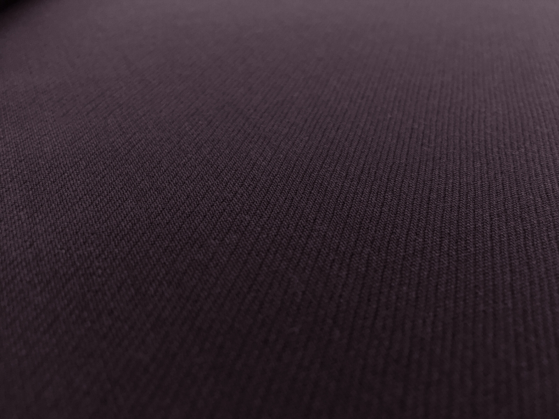 Italian Wool Satin Faille in Dark Purple3