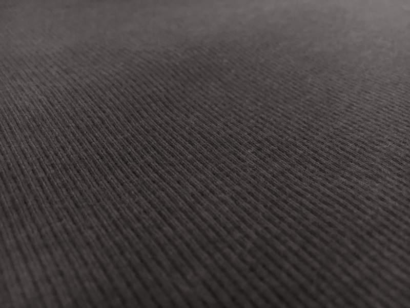 Bamboo Cotton Lycra Rib Knit  in Graphite3