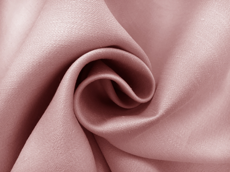 Heavy Linen Satin Upholstery in Rose1