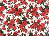 Liberty of London Linen Cotton Red Roses Print 0