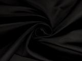 Italian Silk Duchesse Satin in Black0