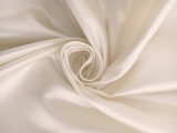 Italian Silk Duchesse Satin in Cream0
