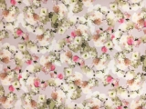 Printed Silk Gazar with Cascading Flowers0