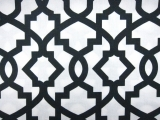 Charcoal Imperial Trellis Cotton Canvas Print0