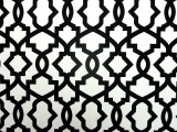 Black Imperial Trellis Cotton Canvas Print0