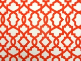 Orange Imperial Trellis Cotton Canvas Print0